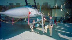 Steve McCarron's F-16 at Edwards AFB in 2000. Every Creative Director should have one.
